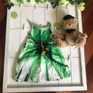 Zara green summer dress 2T—3T